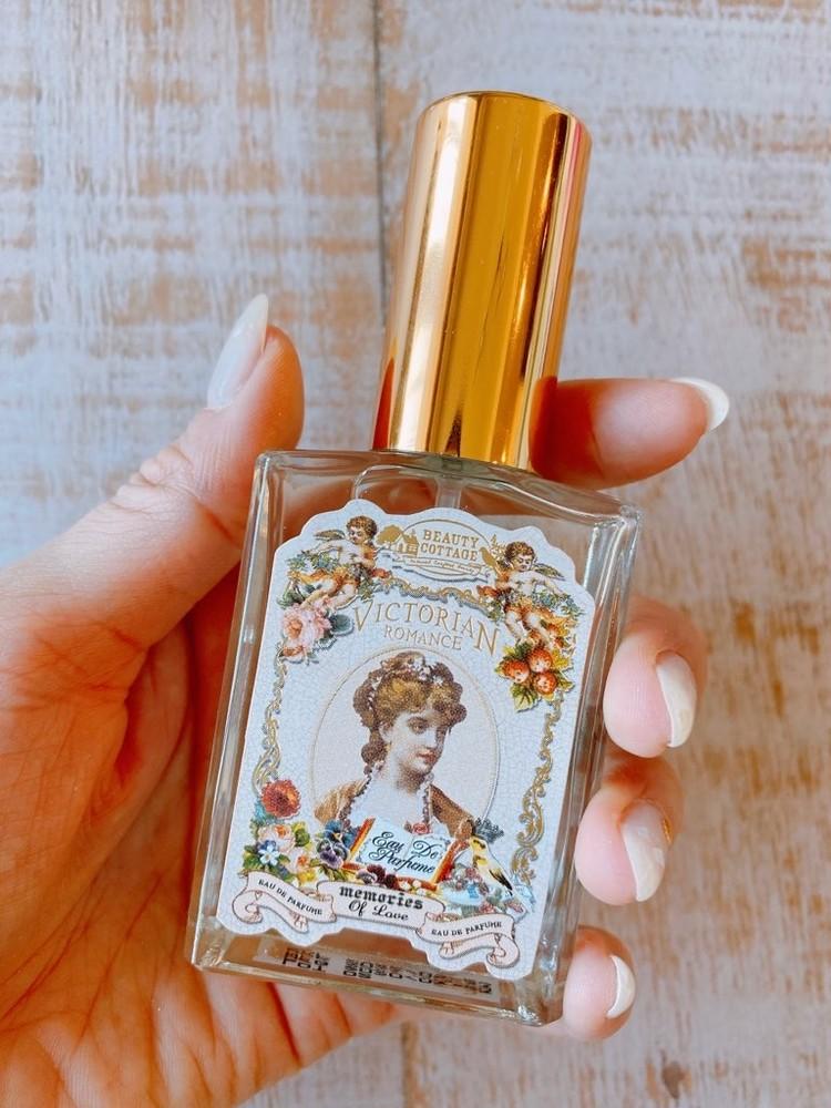 タイコスメの香水「Beauty Cottage」(ビューティーコテージ)のビクトリアンロマンスシリーズ「メモリーオブラブ」を実際に試してみた