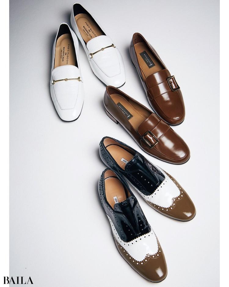 ファビオ ルスコーニ ペル ワシントンの靴、マッキントッシュ ロンドンの靴、ペリーコの靴