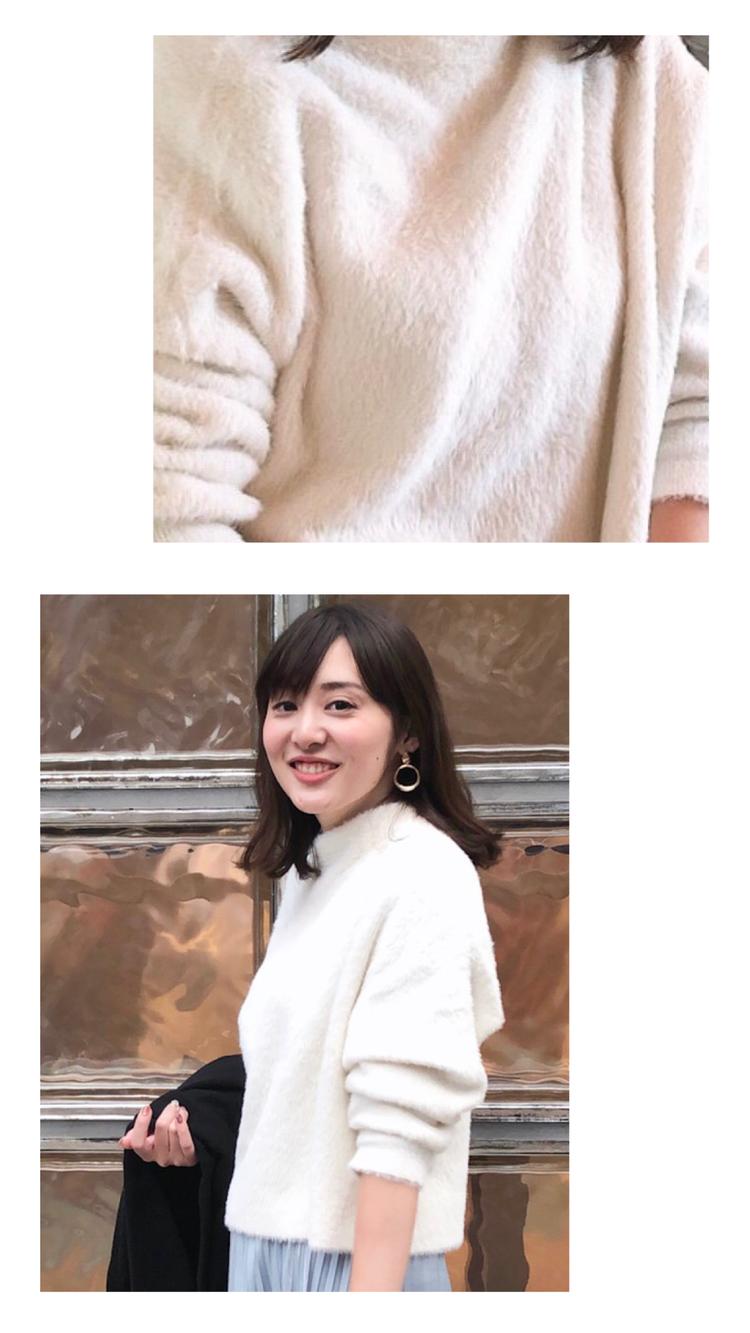【女っぽコーデ】ニット×くすみブルーのプリーツスカート_4