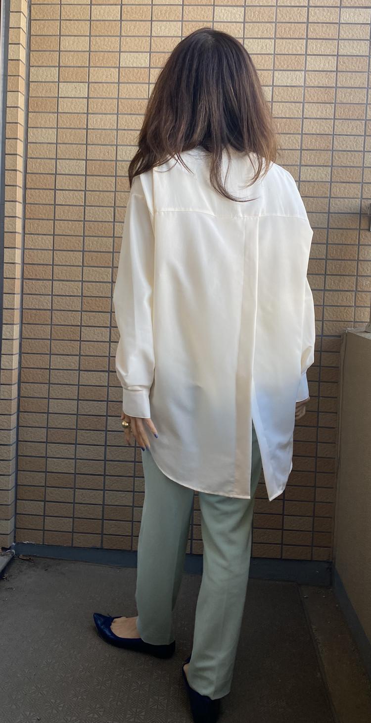 【GU】流行のバンドカラーシャツは低身長でも着こなせる!_3_1