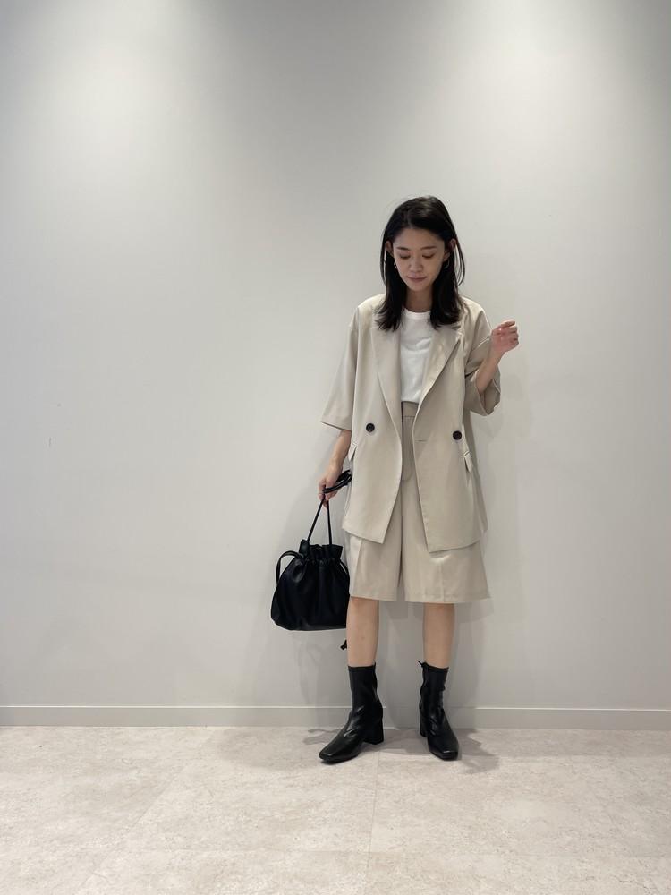 【GU】黒ブーツでセットアップコーデ