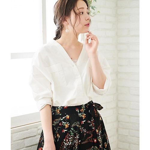 白シャツ×タイトスカートは、腰高バランスであか抜ける♡【2018/6/18のコーデ】_3