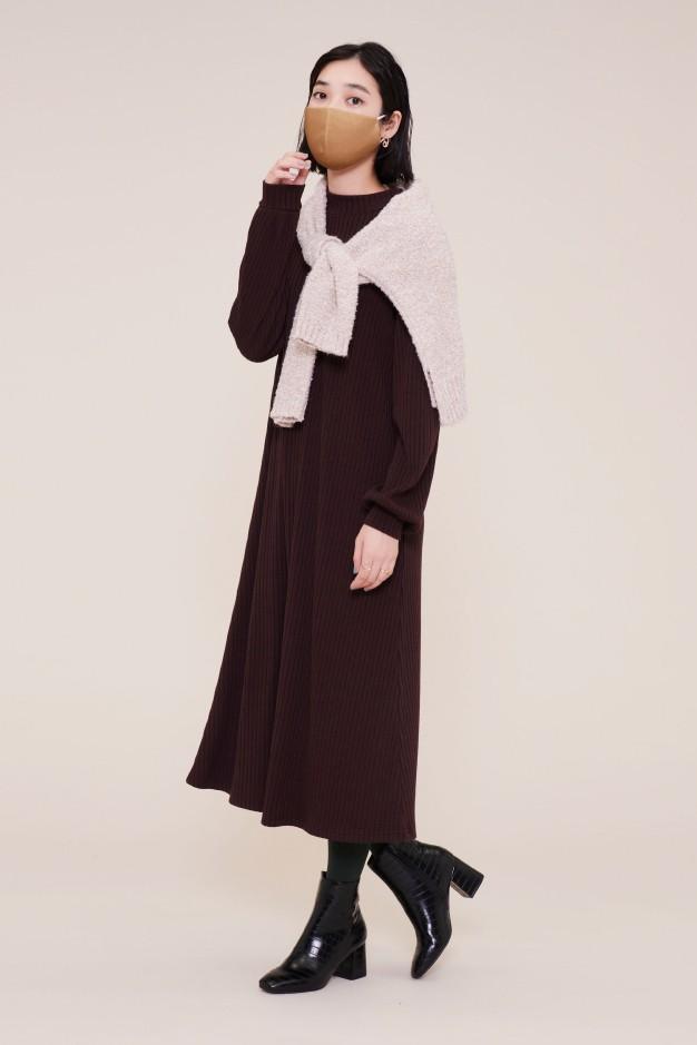 レーシーリブ:高機能フィルター入りFASHION MASK(GU DRY素材使用)¥590