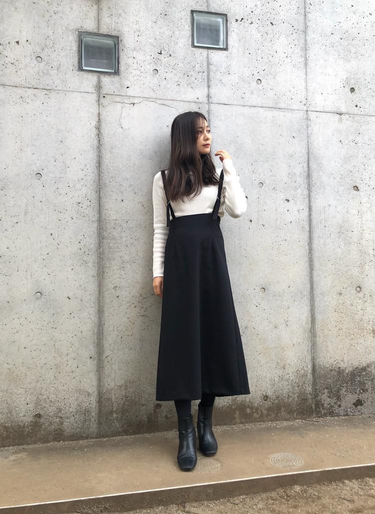 【GUアイテム】コスパ◎ 高見えロングスカート ¥2,490_1