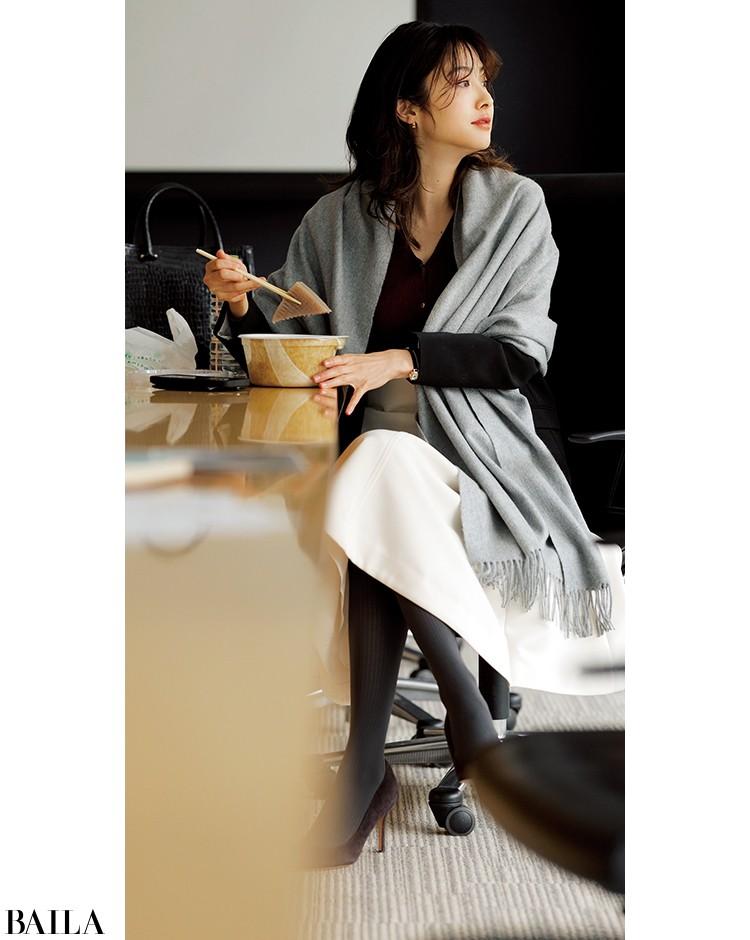 会議がある日は、ジャケットに白スカートの真面目コーデ【2020/1/29のコーデ】_1