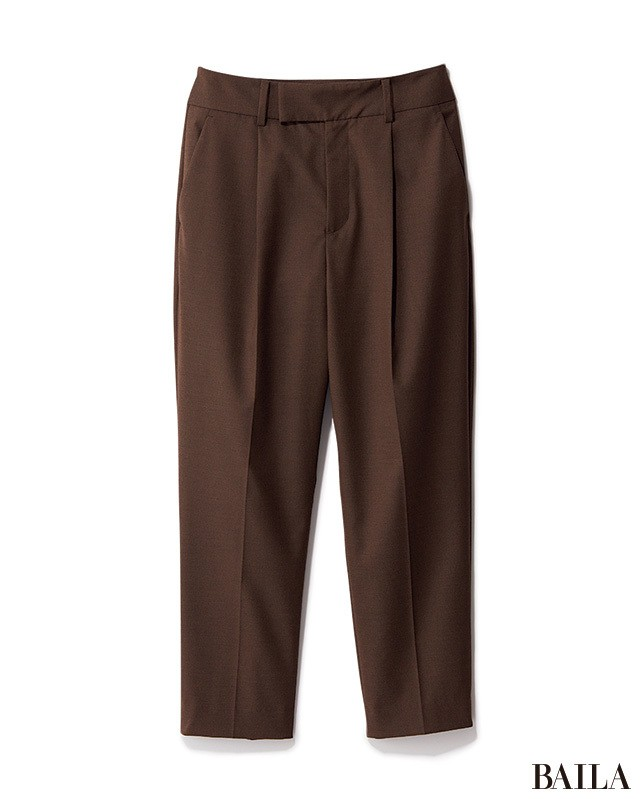 通勤コーデを格上げするなら、ジャケット×腰高パンツで美人度を上げて_2_1