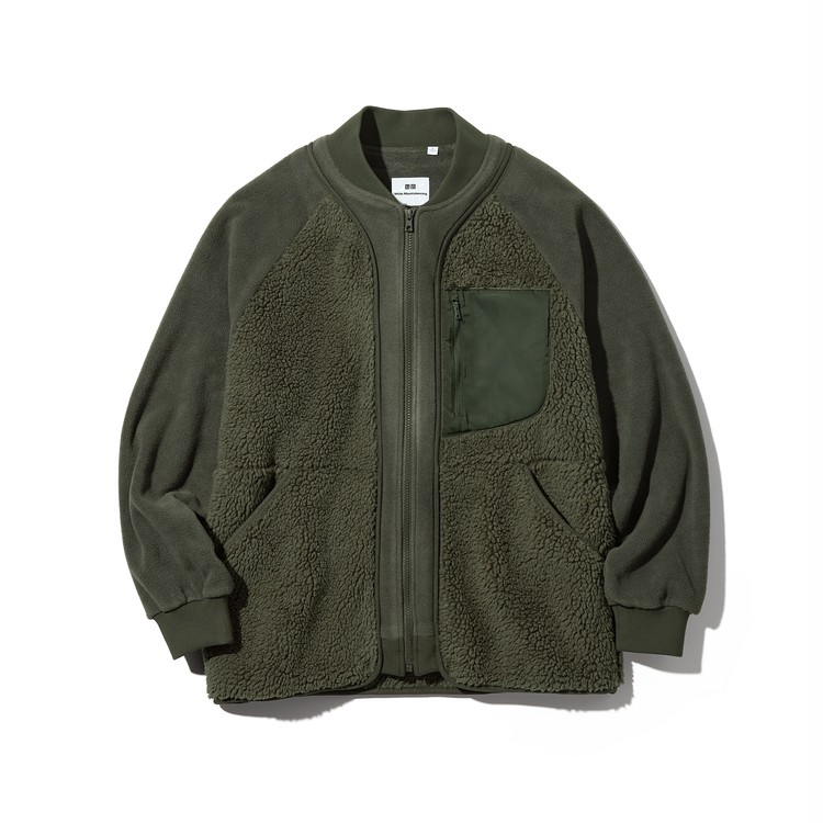 フリースオーバーサイズジャケット(長袖)¥4990