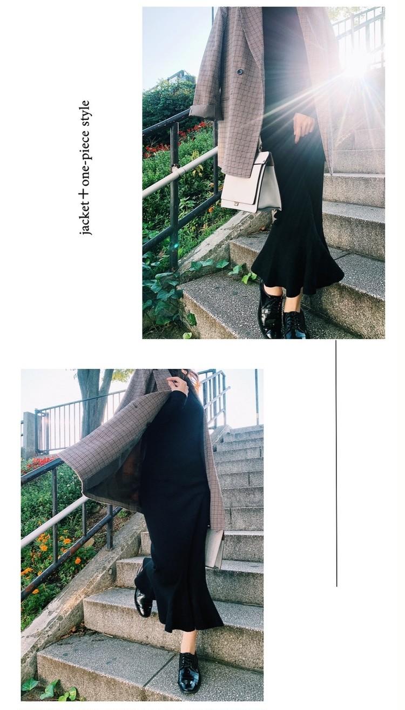 黒ワンピとナノユニバースのジャケットで【154cmコーデ】_2