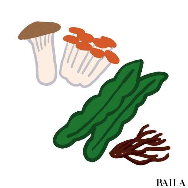 野菜や海藻類を一口目に食べることを意識