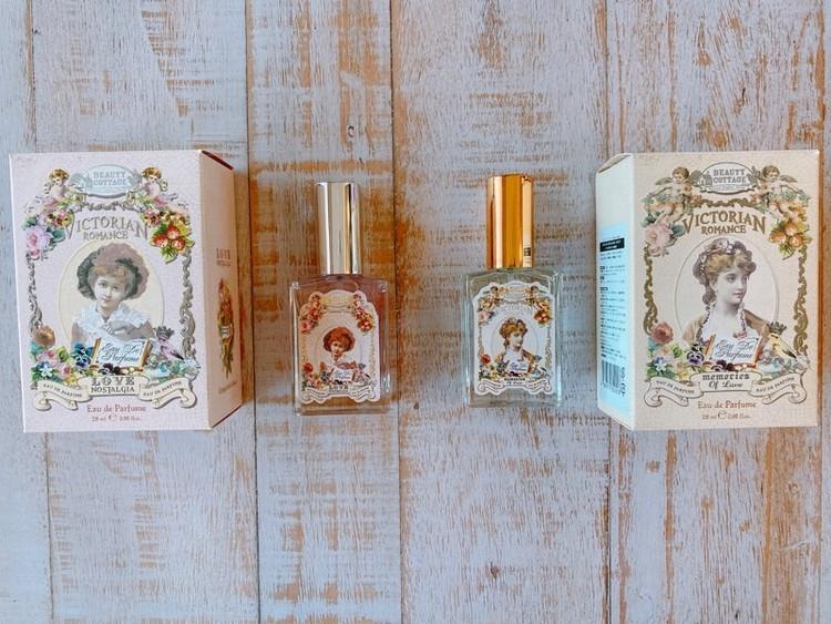 タイコスメの香水、「Beauty Cottage」(ビューティーコテージ)のビクトリアンロマンスシリーズ、「メモリーオブラブ」、「ラブノスタルジア」がオススメ