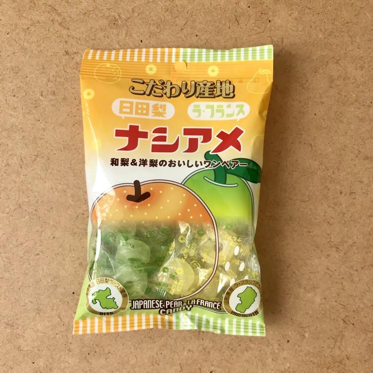 パインアメ発・幻の【ナシアメ】(約100g入り・¥178)