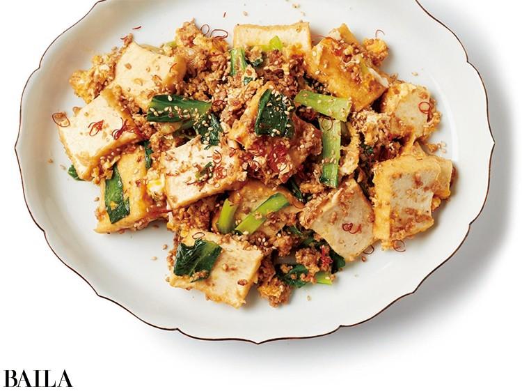 厚揚げと豚ひき肉のチャンプルーのレシピ