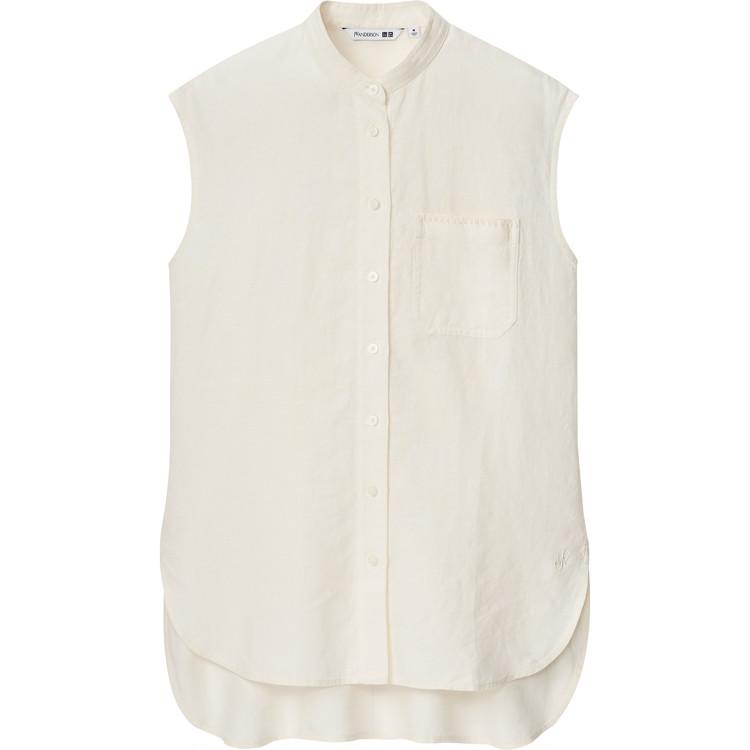 リネンスタンドカラーシャツ¥3990/ユニクロ(ユニクロ アンド JW アンダーソン)