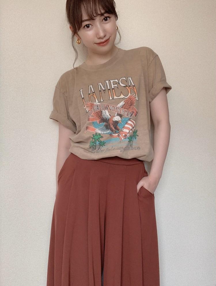 ロックTシャツを女っぽく着るアイディア!〜Part1〜_2