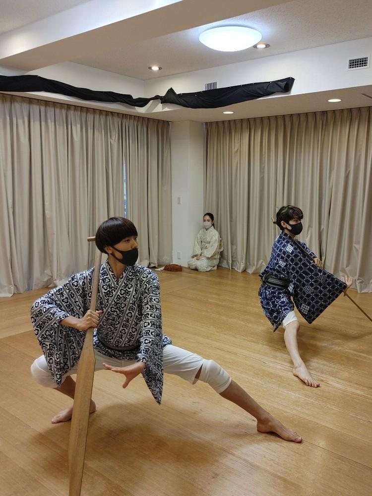 三社祭お稽古中。染五郎と團子コンビのバディ写真