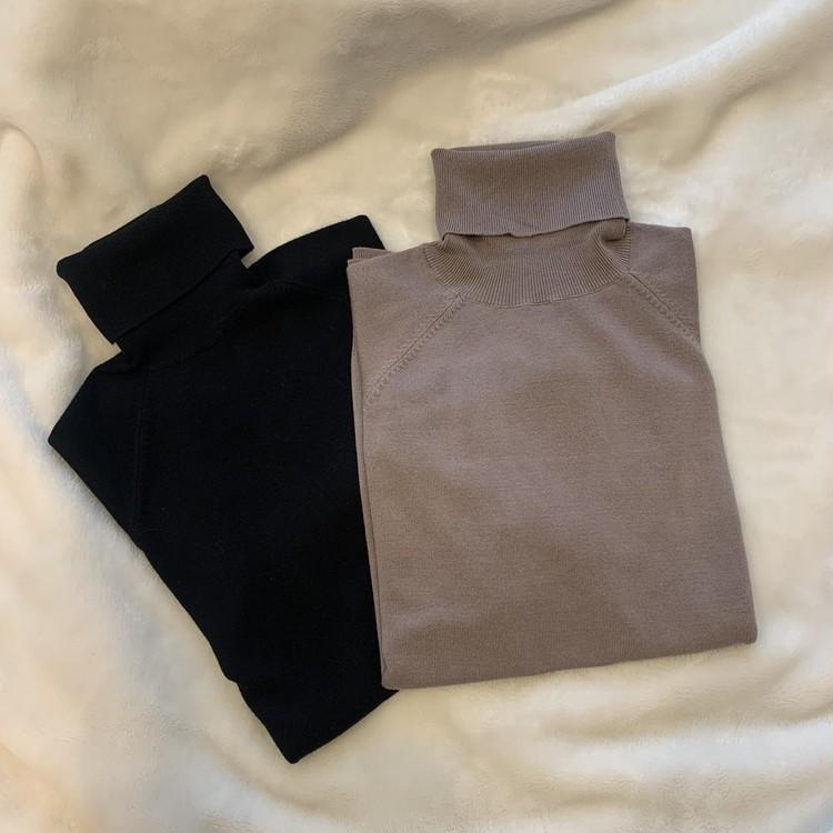 【ZARA】ベーシックなハイネックセーターを2色買い_1