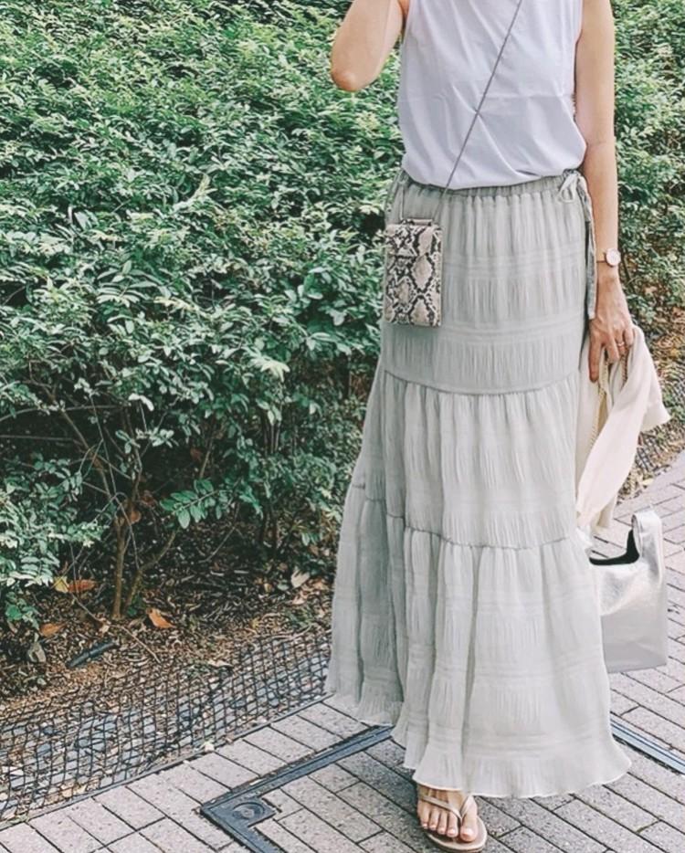 ティアードスカートが可愛い♡お散歩コーディネート_2