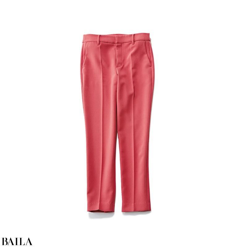 銀座でデートに行く日は、女っぽいピンクパンツの甘めカジュアルスタイル【2019/12/22のコーデ】_2_1