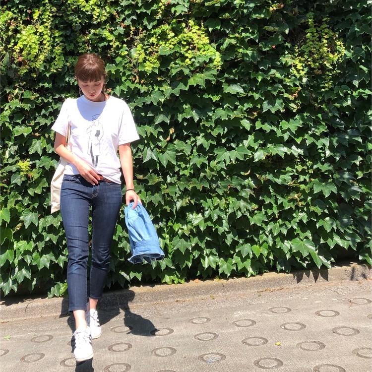 【BAILA7月号】Tシャツ着まわし1カ月コーデが気になる♡_4