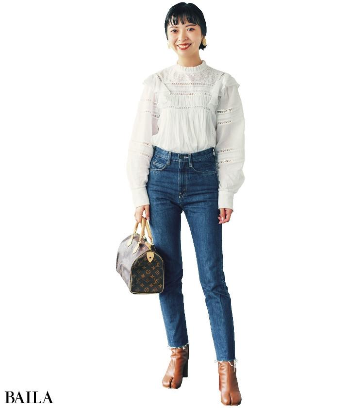 長島沙耶 さん  普段スニーカーが多いので特別な日に履きます。背すじがすっとのびる感じも好き♡