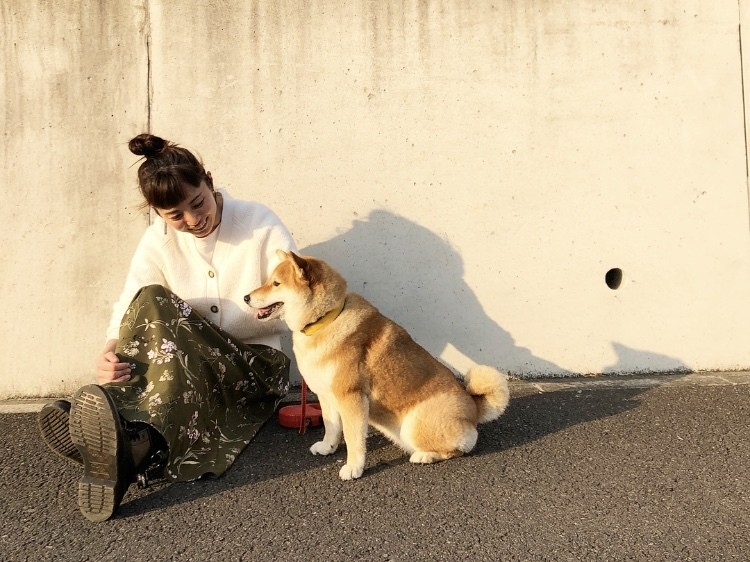 愛犬ナッツとお花見散歩♪_5