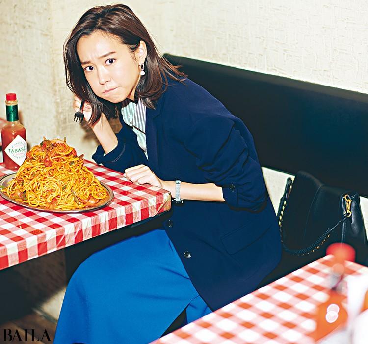 ランチを食べに出る日は、とろみテイラードジャケットのさわやかコーデ【2020/3/16のコーデ】_1