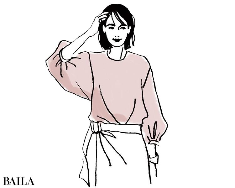 「姫」度満点なピンクのブラウスを着る場合