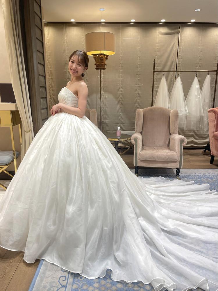 準備再開【パレス花嫁】2021SS新作ドレスを試着しました♡_9