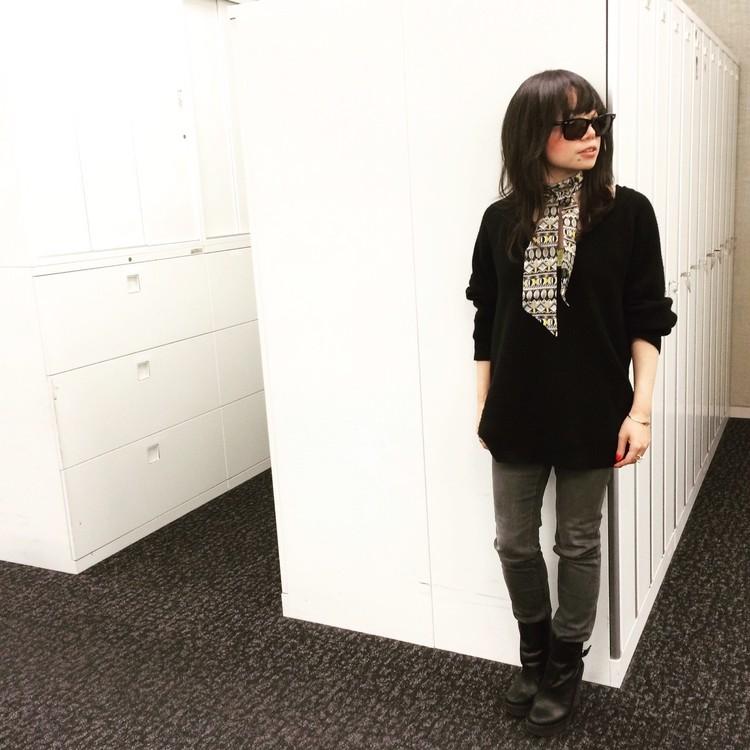 【#OOTD】バイラ編集部でもスカーフ愛用者、増えてます!_1