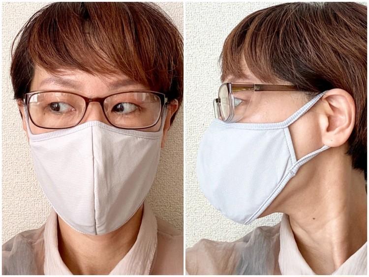 マスク着用時もレンズが曇りにくい、曇り加工止め仕様!
