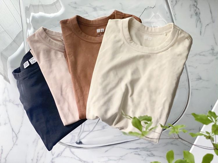 毎年買い足している「ユニクロユー」のクルーネックTシャツ