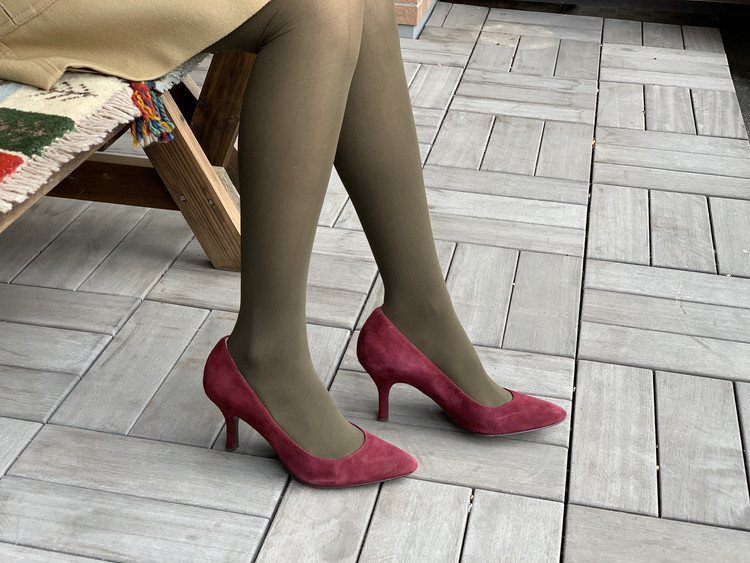 BAILA付録のブラウンタイツと手持ちの靴を合わせてみた!_6