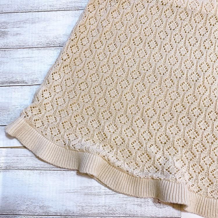 GUコーデ!大人気の透かし編みニットスカートが進化して再販!_2