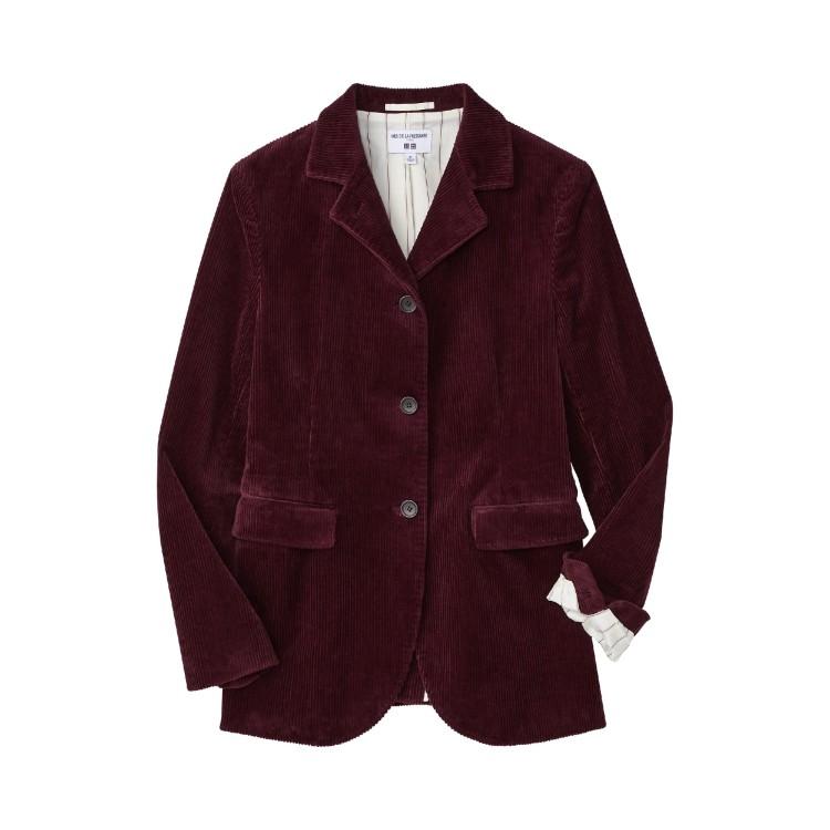 ユニクロ × イネス・ド・ラ・フレサンジュ 2021年秋冬コレクション コーデュロイ ジャケット¥6990