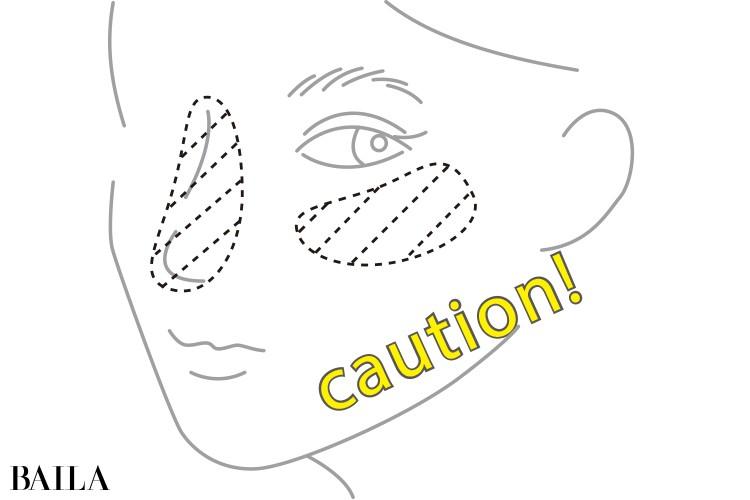 顔への塗り方のコツ