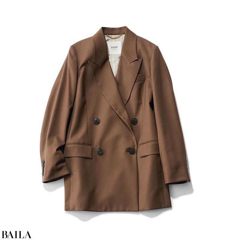 クライアントに会いに行く日は、ブラウンのジャケット&パンツでセットアップ風に【2020/3/10のコーデ】_2_3