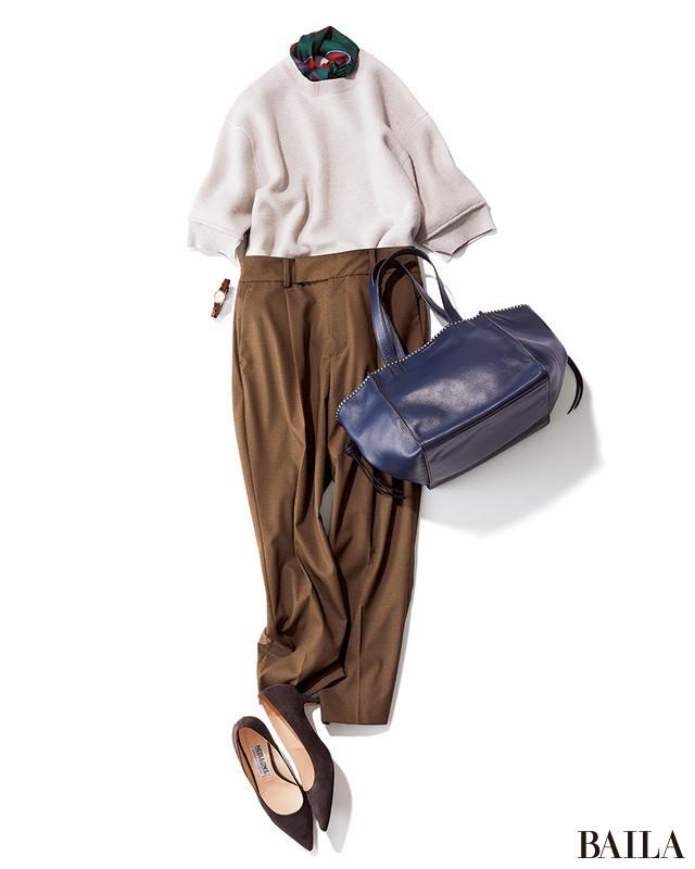 細身パンツ×ヒール靴の美脚コンビは、腰高バランスで秋バランスに_1