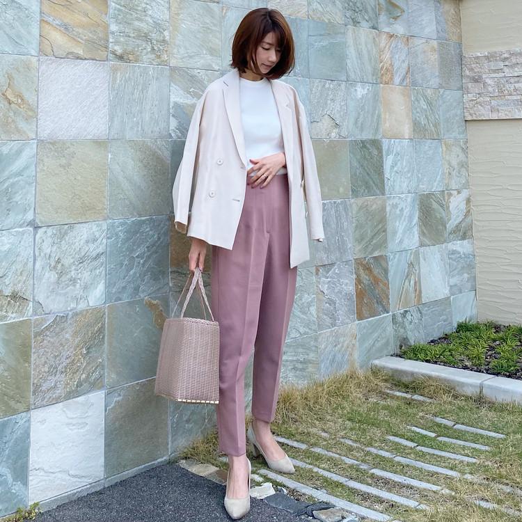 【BAILA5月号】きれい色と着るベージュコーデ_2