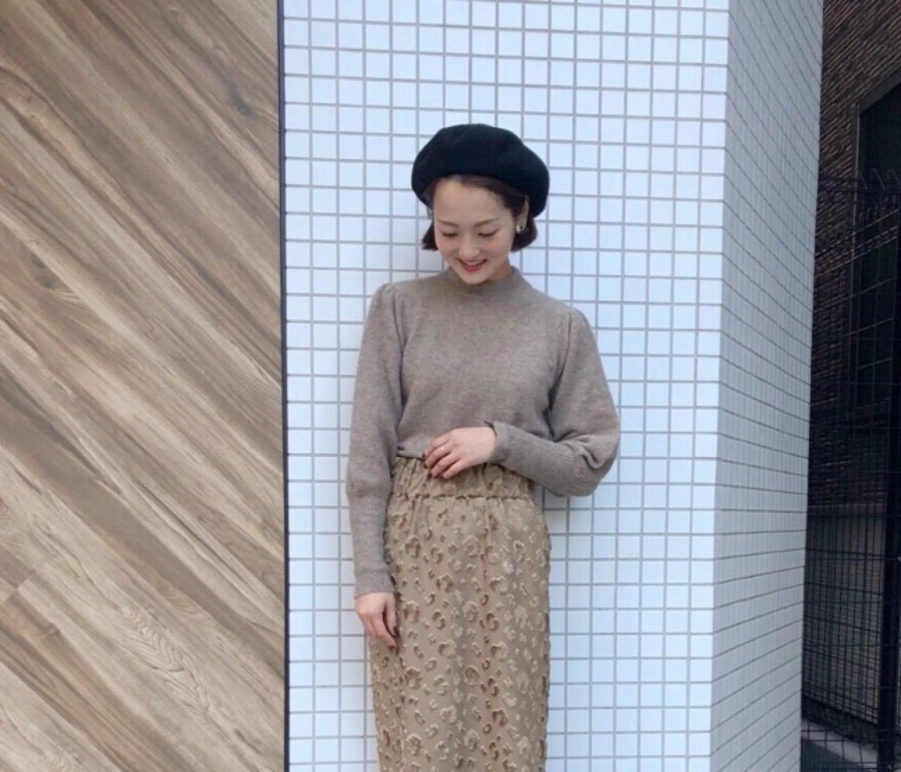 【ベレー帽コーデ】着まわし万能なLiesseの一目惚れスカート♡