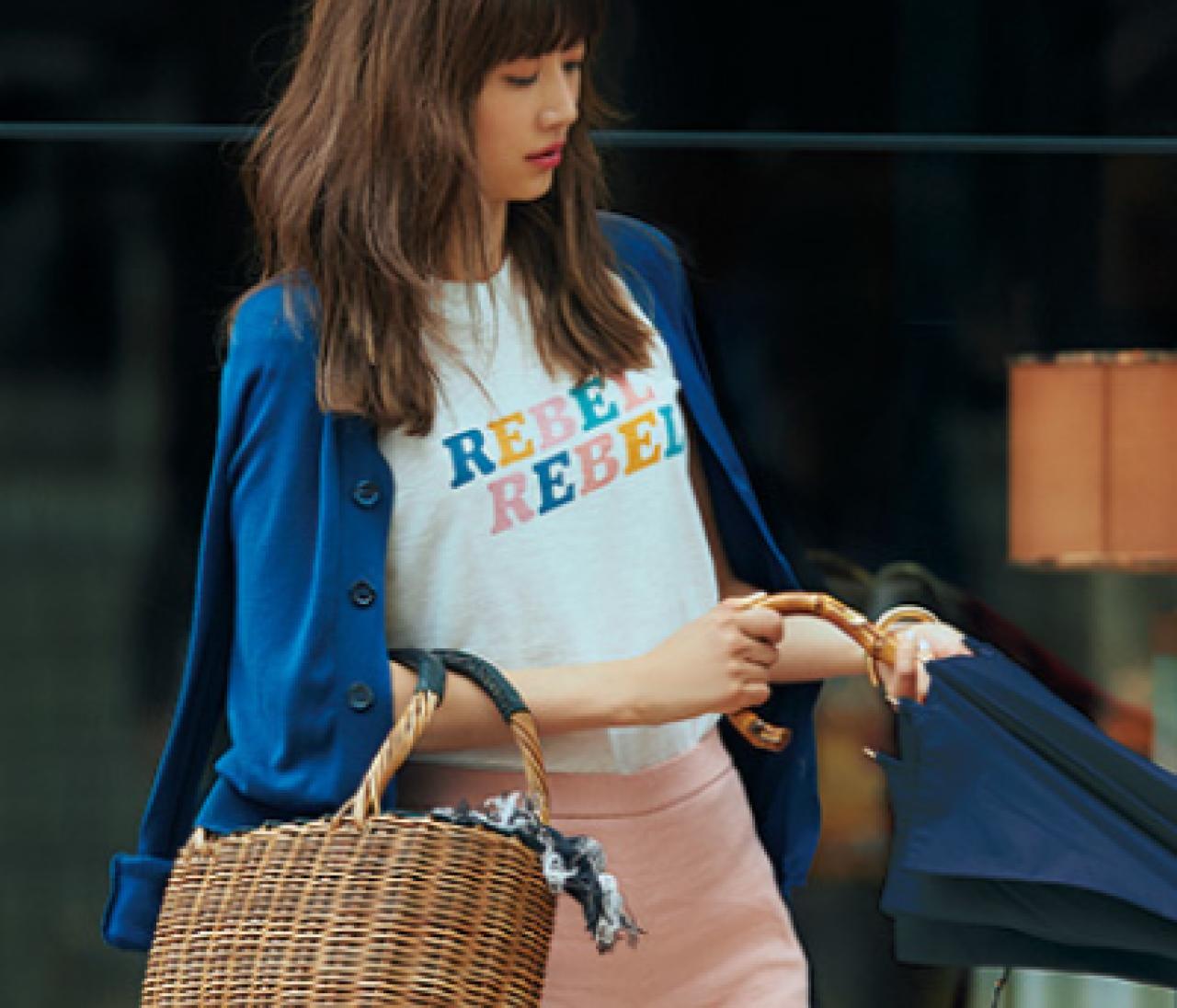 きれい色に合わせてガンガン着回す【白&ブルーのベーシック服】7選