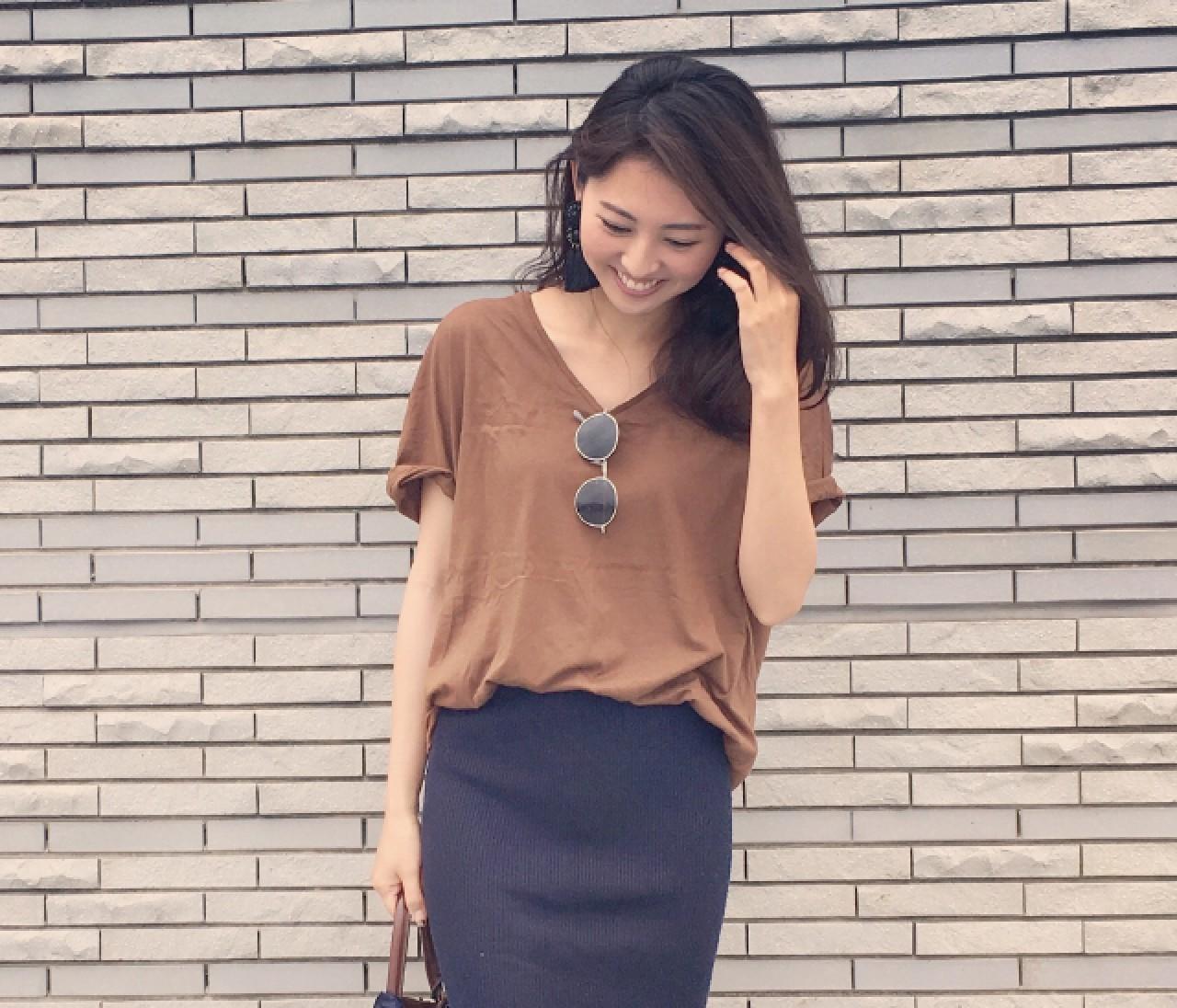 【スナップ】テラコッタTシャツ「ずるほそ」配色でもっときれいに!