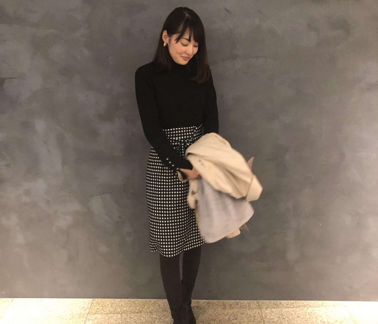 【GU×女っぽスカート】冬のプチプラ2コーデ
