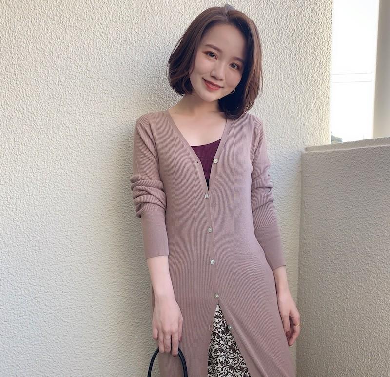 BAILA_石本愛衣_150cmコーデ_通勤_ロングカーディガン