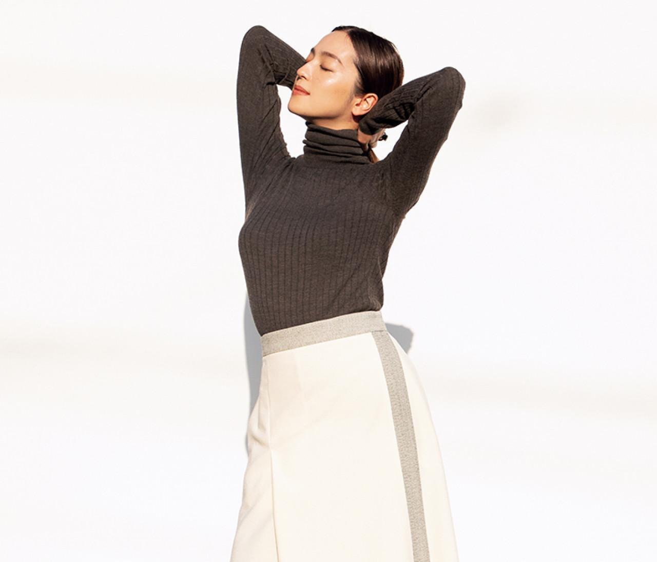 冬の白はグレー&ベージュでぐっと女っぽく!【中村アンのハッピーモード Vol.1】