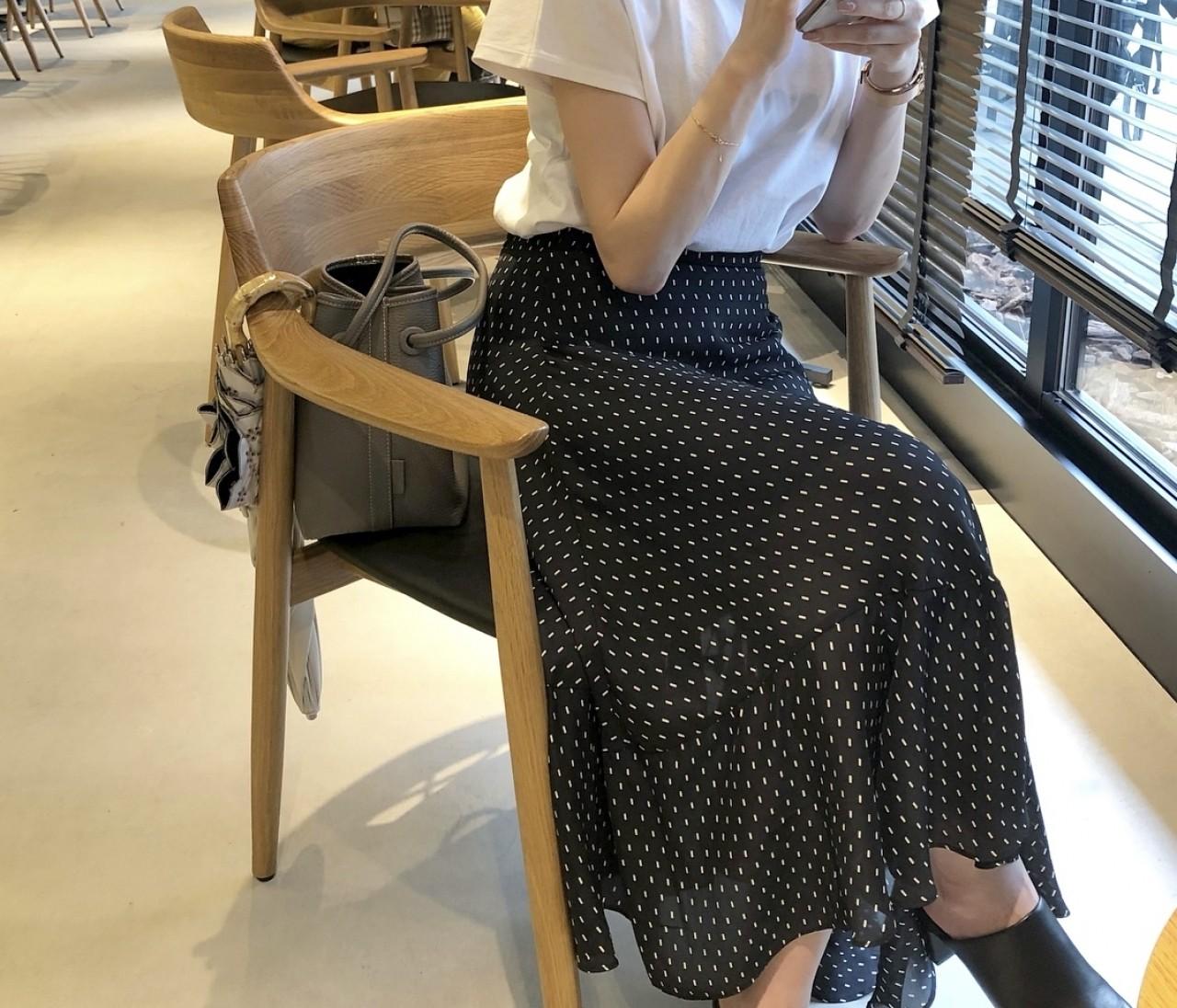 UNIQLO Tシャツで大人フェミニンスタイル♡