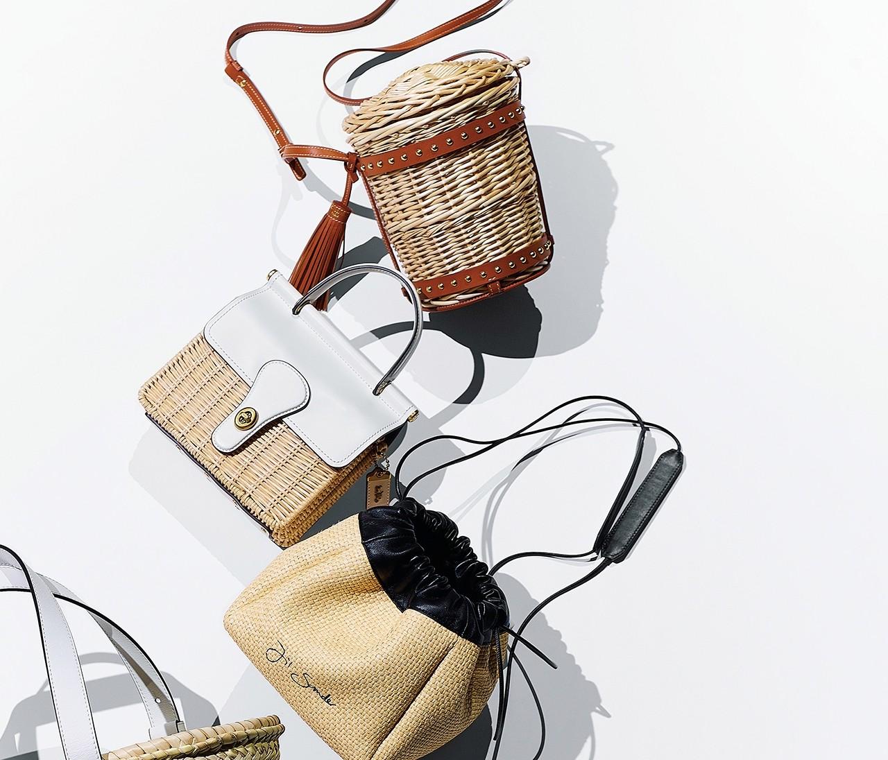 【かごバッグに恋して】〈都会派ショルダー〉でいつもと違う可愛さを!