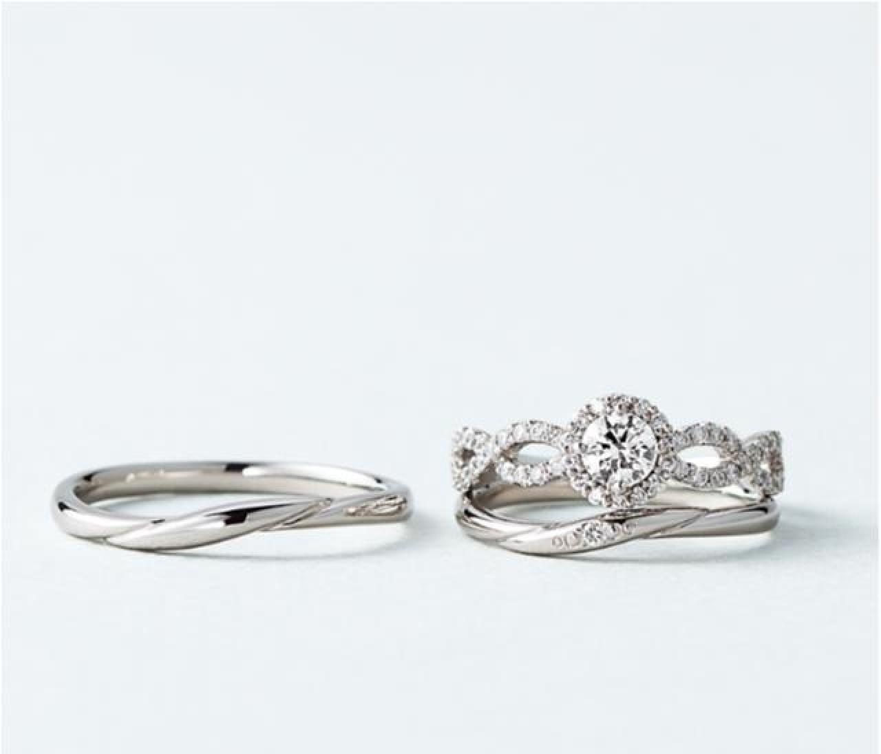 定番プラチナ×ダイヤモンドで選ぶ私と彼のリング