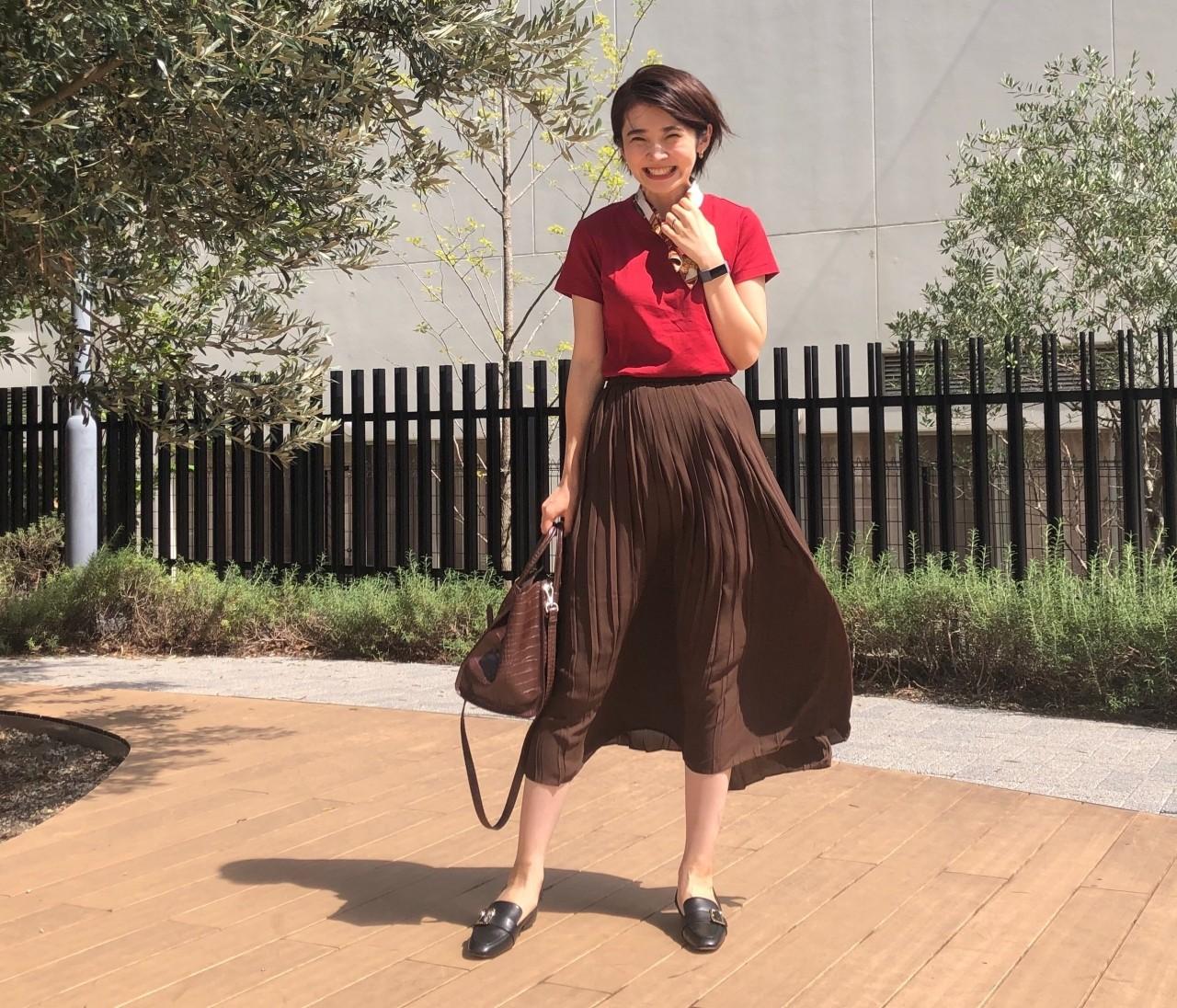 【ユニクロ】定番!プリーツスカートがオールシーズン使える。