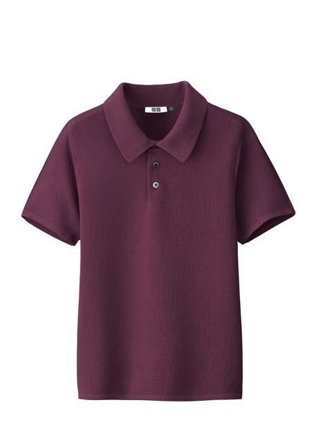 ニットポロシャツ(半袖)