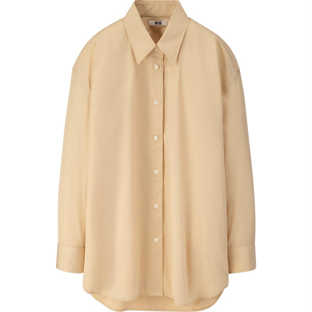 コットンオーバーサイズシャツ(長袖)¥2990/ユニクロ(ユニクロ ユー)